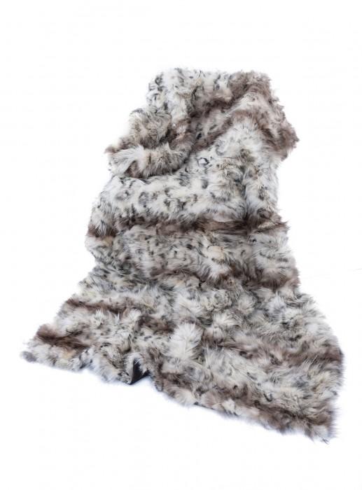 Coyoten Decke mit Druck und Schurwolle