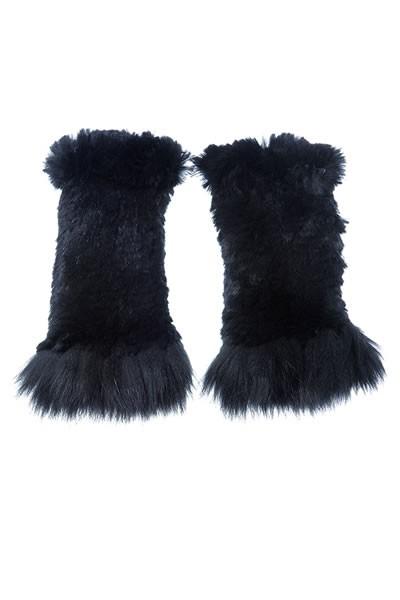 Rexkanin Stulpen mit Fuchs schwarz
