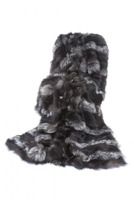 Silberfuchs Wammen Decke natur