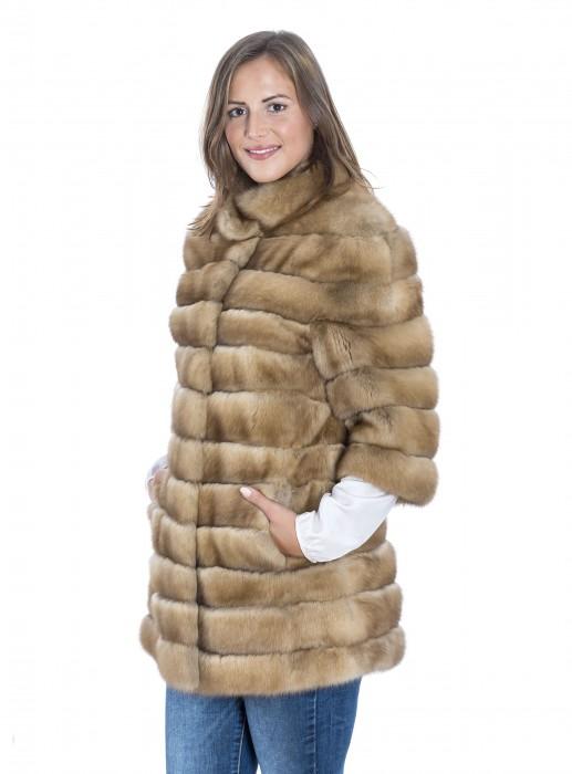 Kanadische Zobel Jacke mit kurzem Ärmel golden