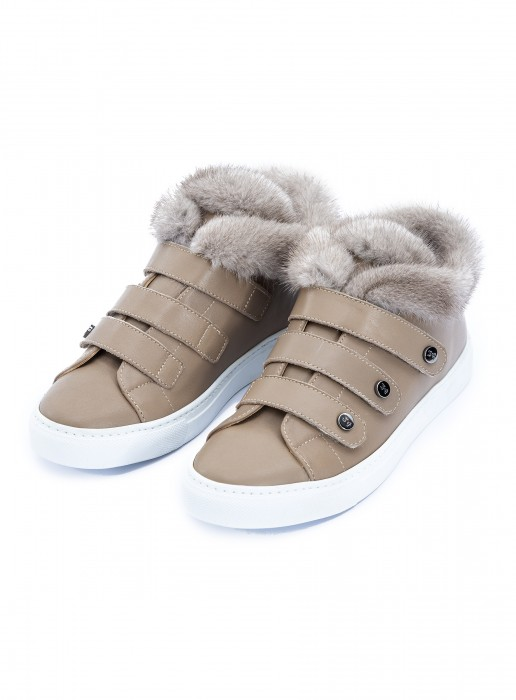 Schuhe mit Nerz