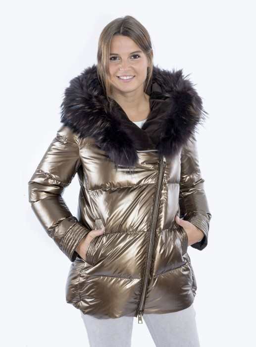 Steppjacke mit Finnraccoon