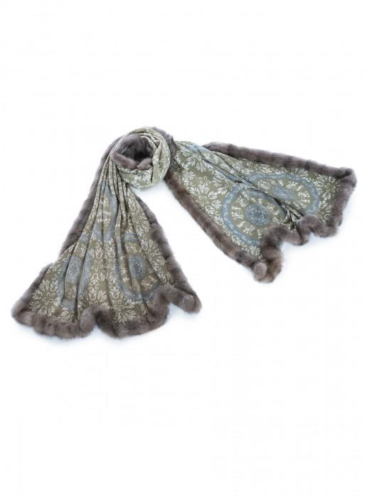 Cashmere 100% Tuch mit russischem Zobel taupe diverse Farben 70x200