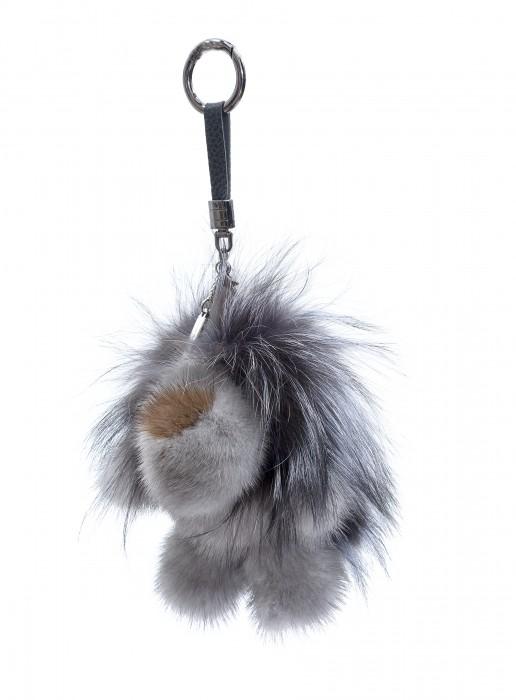 Löwe Taschenanhänger aus Nerz und Fuchs