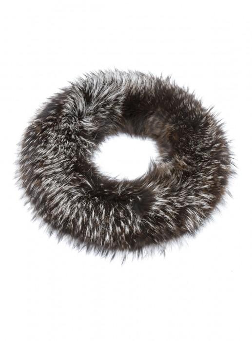 Silberfuchs Loop Schal braun
