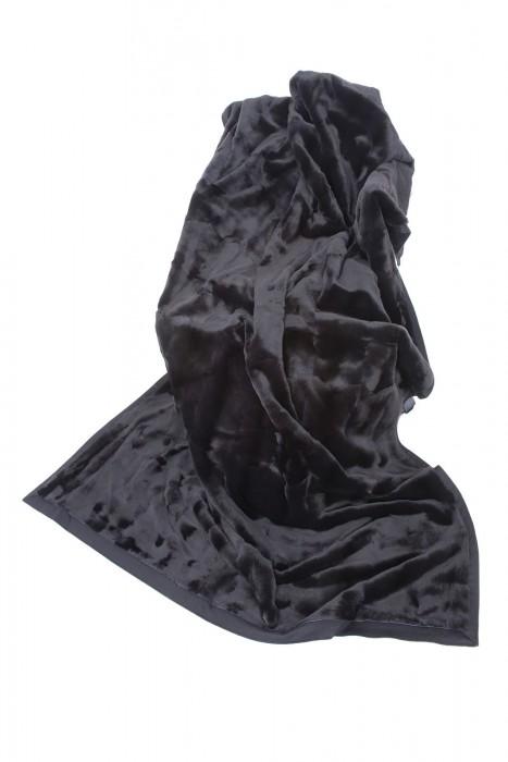 Dunkelgraue Samtwiesel Decke 210x140
