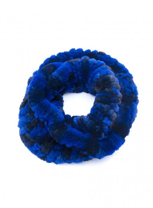 Kanin Loop blau mit schwarz