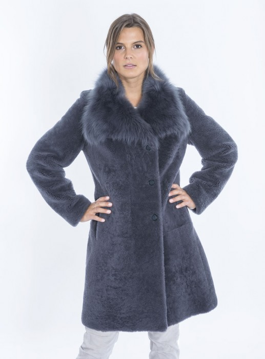 aff8a7103 Shearling coat with long-haired collar