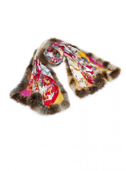 Cashmere Schal mit Zobel