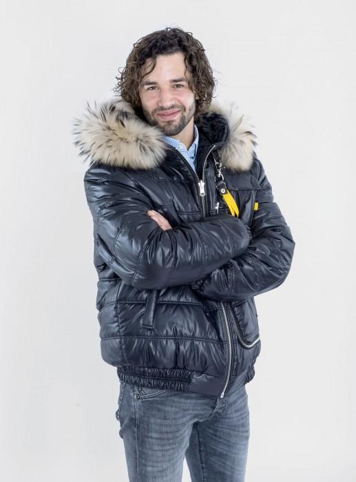 Stepp Breitschwanz Wendejacke mit Finnracoon