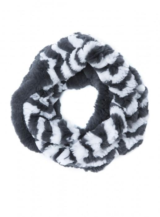 Rexkanin Schal Loop weiß grau