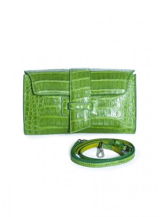 Krokotasche grün
