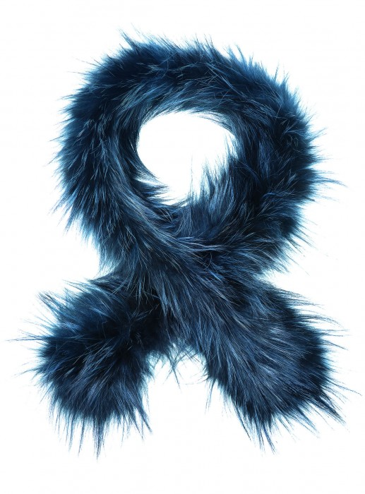 Graublauer Silberfuchs Schal