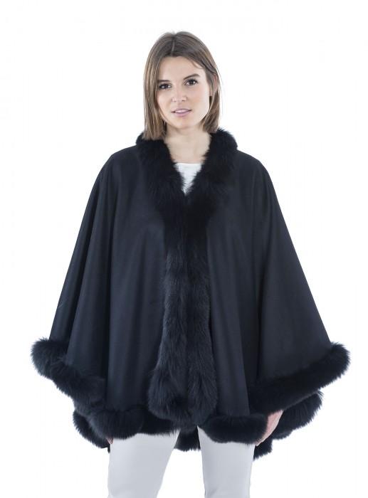 Cashmere mit Blaufuchs schwarz