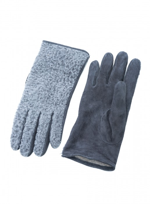 Lammfell Handschuh mit Leder