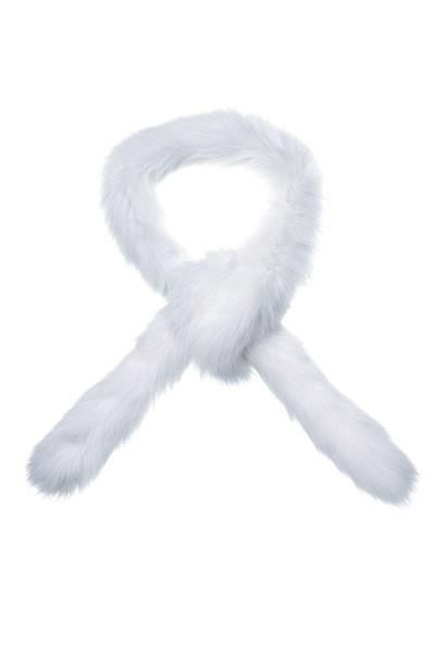 Weißer Blausilberfuchs Schal