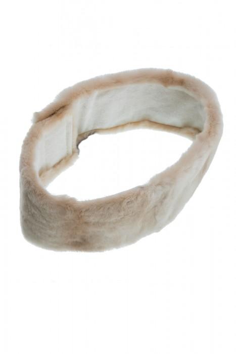 Sandfarbenes Samtnerz Stirnband
