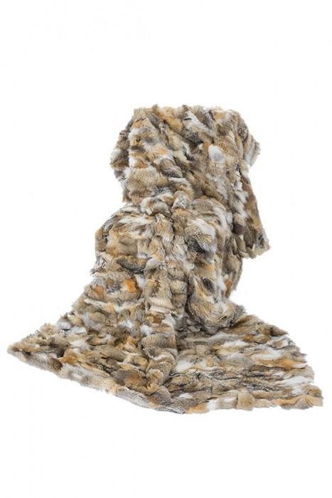 Kitfuchs Decke naturfarben mit Schurwolle